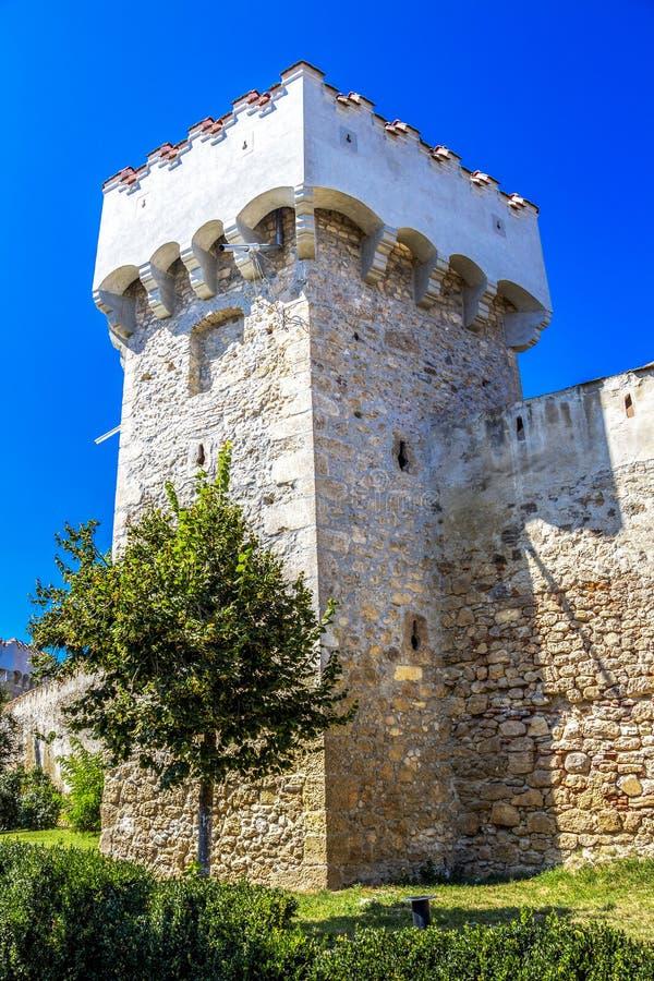 阿尤德城堡塔在罗马尼亚 免版税库存照片