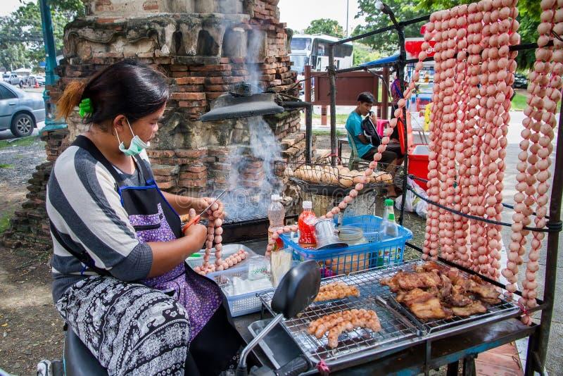 阿尤特拉利夫雷斯,泰国- 2016年10月, 21日:未认出的泰国woma 图库摄影