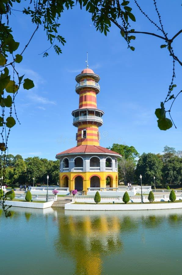 阿尤特拉利夫雷斯,泰国12月28日:古老Ho Withun Thasana  免版税库存照片