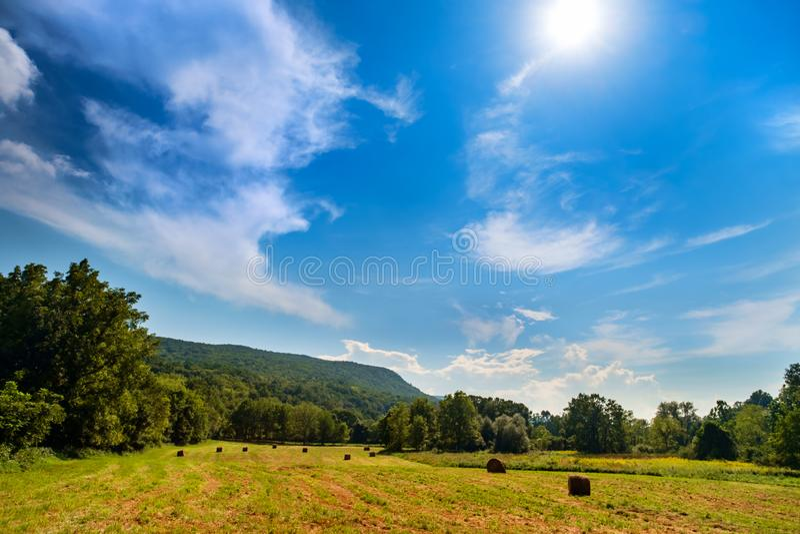 阿巴拉契亚山脉农场土地 库存图片
