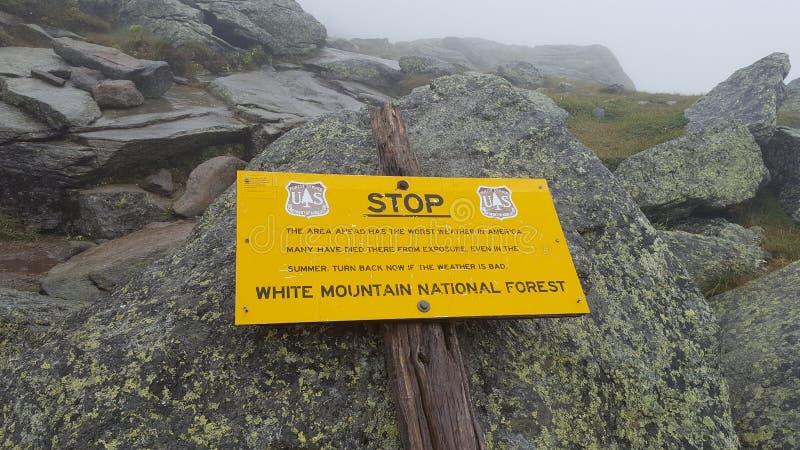 阿巴拉契亚足迹的登高的华盛顿山 免版税库存图片