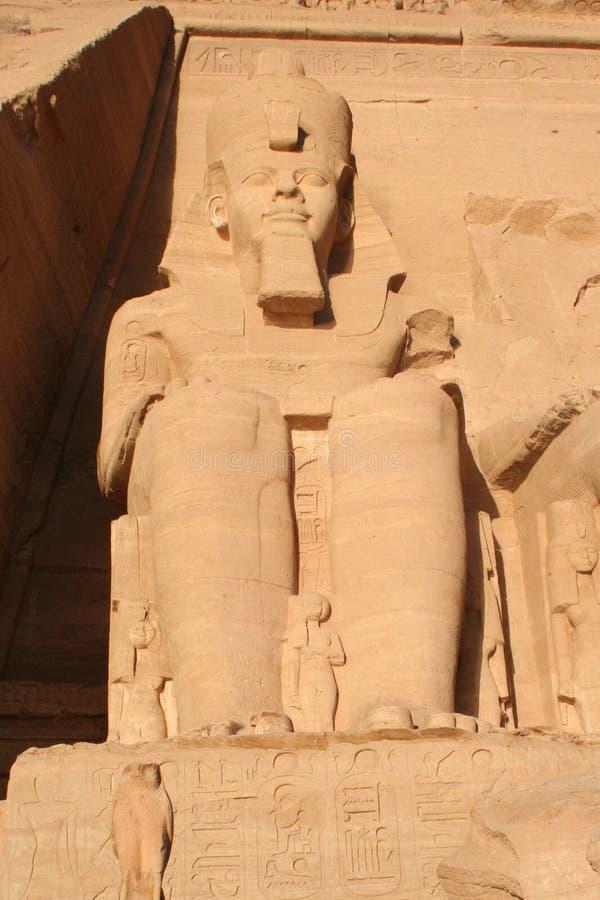 阿布・辛拜勒神庙了不起的拉姆西斯ii 免版税图库摄影