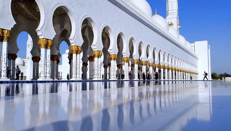 阿布扎比全部清真寺回教族长阿拉伯&# 免版税库存照片