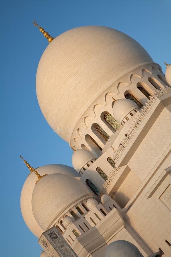 阿布扎比扎耶德Mosque回教族长在阿联酋 免版税图库摄影