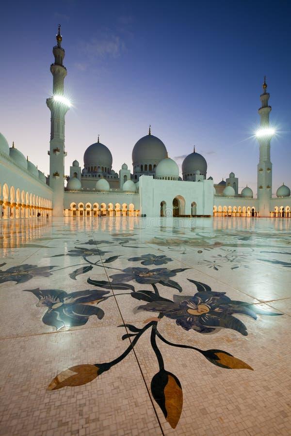 阿布扎比扎耶德Mosque回教族长 库存照片