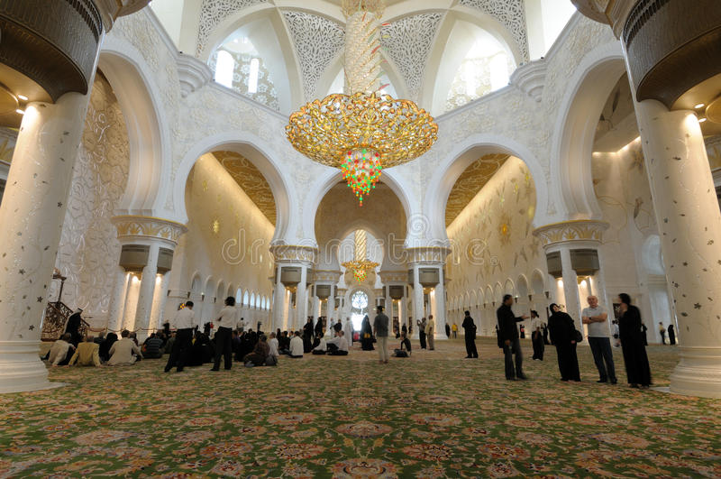 阿布扎比清真寺回教族长zayed 免版税图库摄影