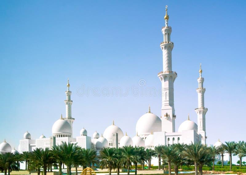 阿布扎比清真寺 库存照片