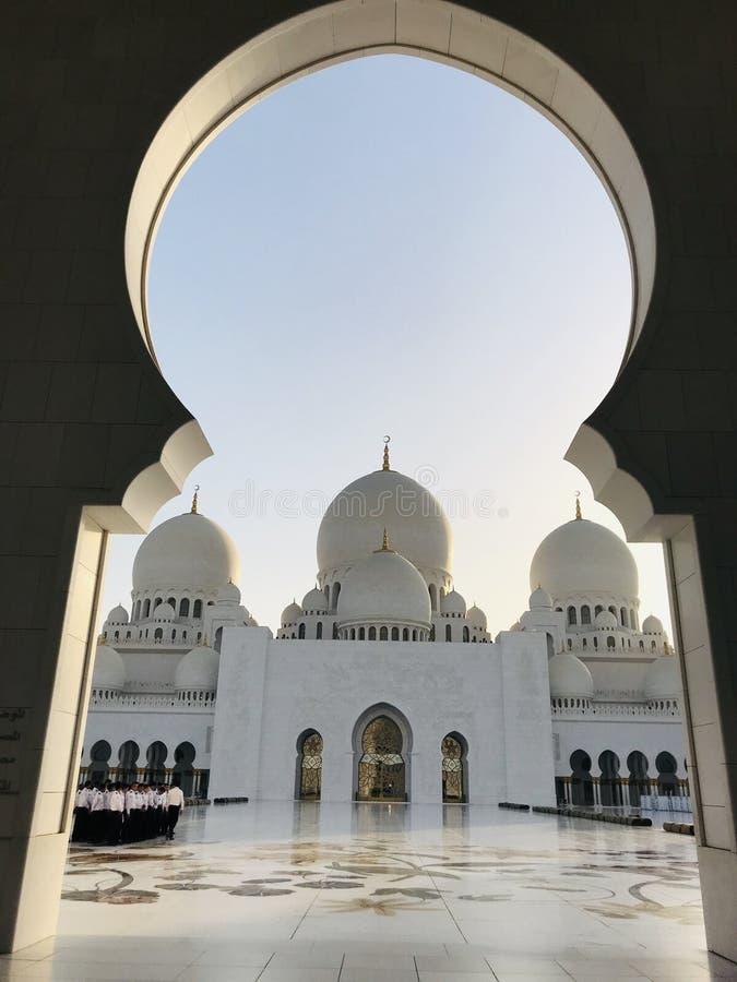 阿布扎比盛大清真寺 库存照片