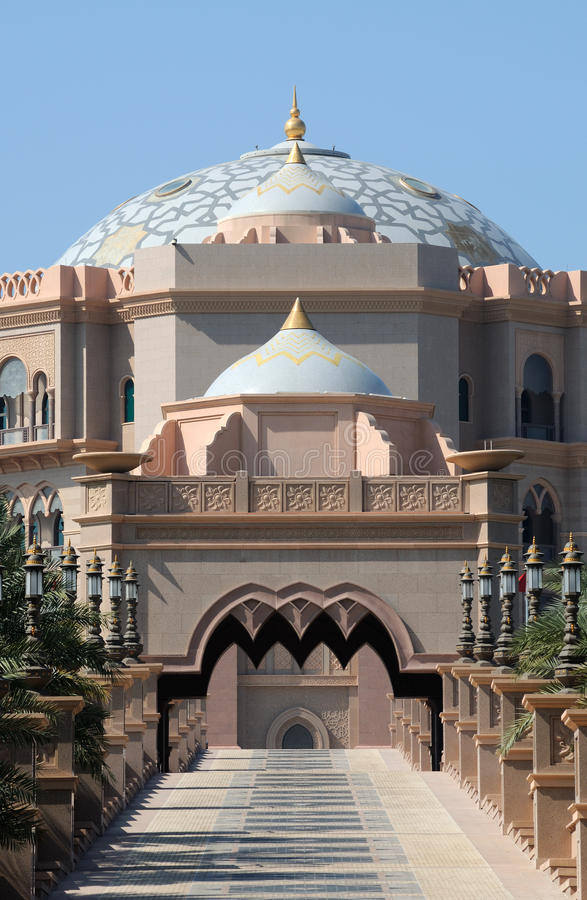 阿布扎比酋长管辖区宫殿 免版税图库摄影