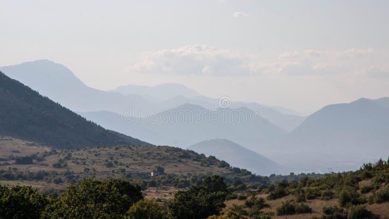 阿布鲁佐山景 库存图片
