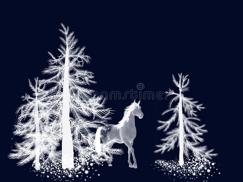 阿帕卢萨马森林马杉木冬天 向量例证