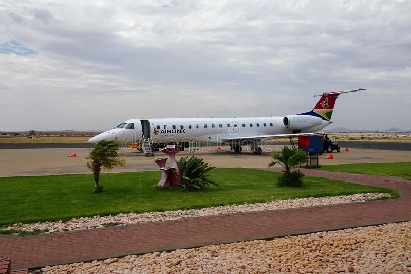 02/02/2019阿平顿机场,南非-飞机 库存图片
