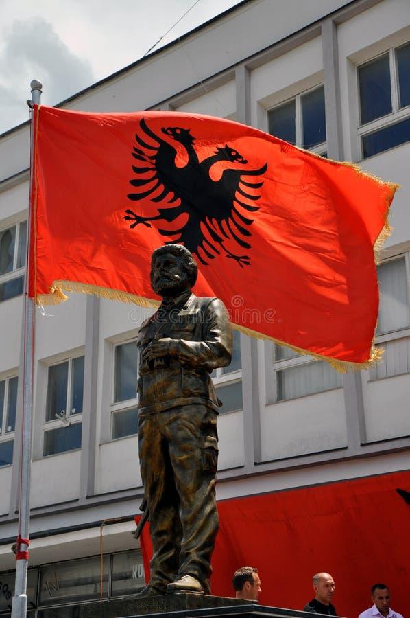 阿德姆Jashari, Dragash科索沃雕象  免版税库存照片
