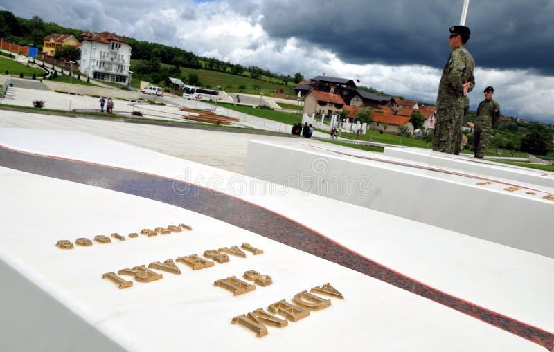 阿德姆Jashari s坟茔, Prekaz,科索沃 免版税库存照片