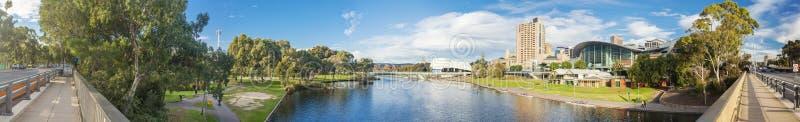 阿德莱德市在日落的澳大利亚 库存照片