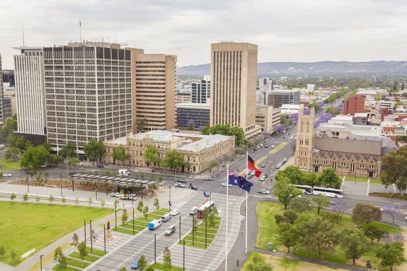 阿德莱德市看法在澳大利亚自白天 库存图片