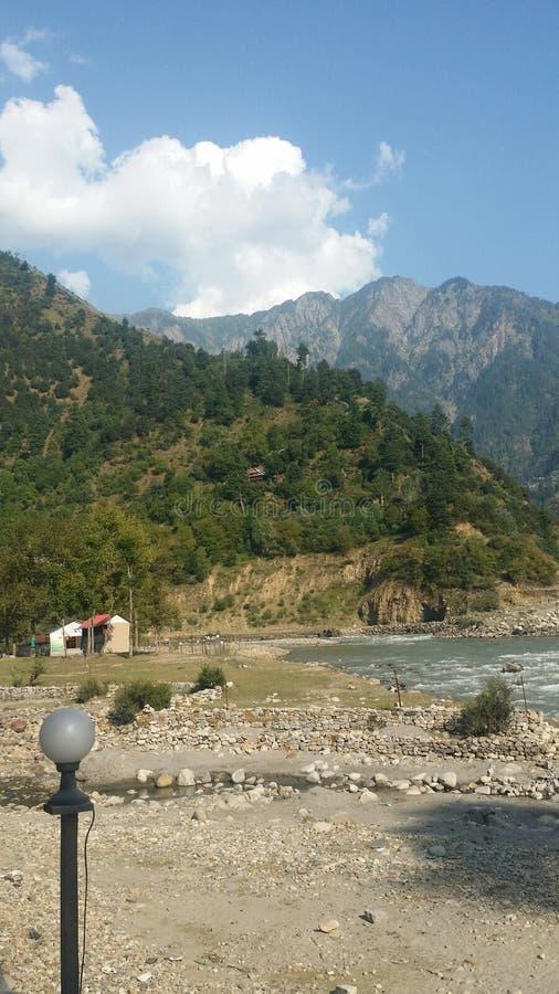 阿扎德查谟克什米尔美丽的景色  库存照片