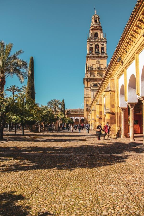 阿拉伯主题在科多巴,安大路西亚,西班牙 库存图片