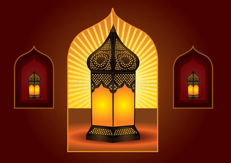 阿拉伯五颜六色的复杂灯笼 皇族释放例证
