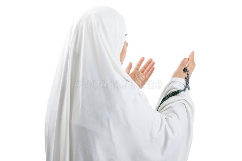 阿拉伯亚裔回教妇女 库存照片