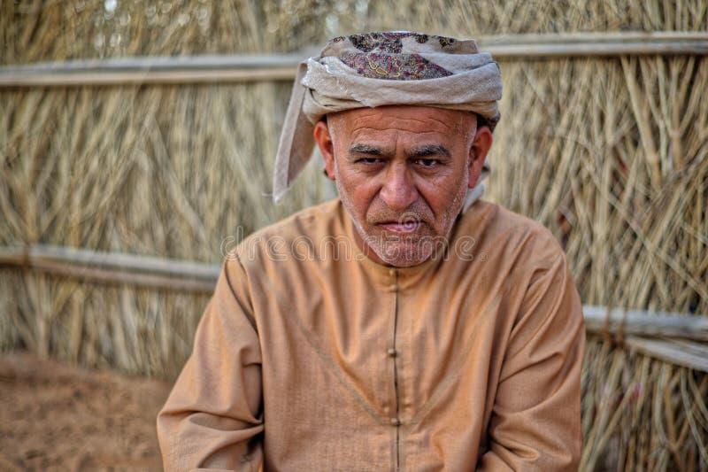阿拉伯人画象  库存照片