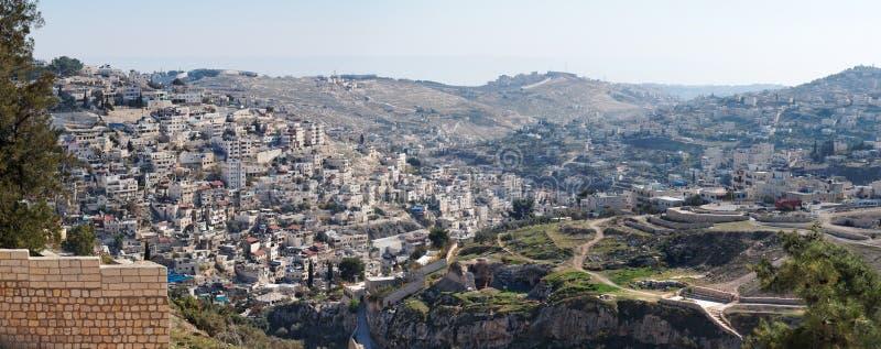 阿拉伯人silwan东耶鲁撒冷的邻里 免版税库存图片