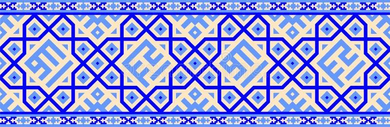 阿拉伯几何模式 向量例证