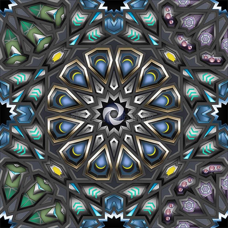 阿拉伯几何模式 免版税库存照片