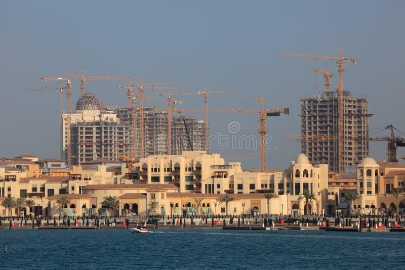 阿拉伯半岛多哈珍珠波尔图 库存图片