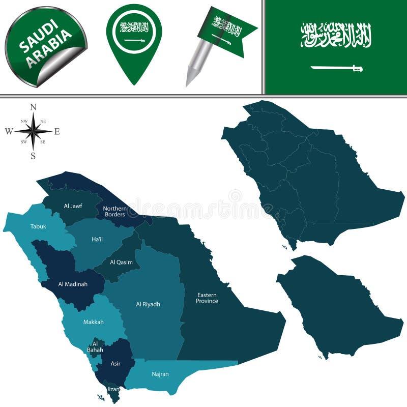 阿拉伯半岛映射沙特 皇族释放例证