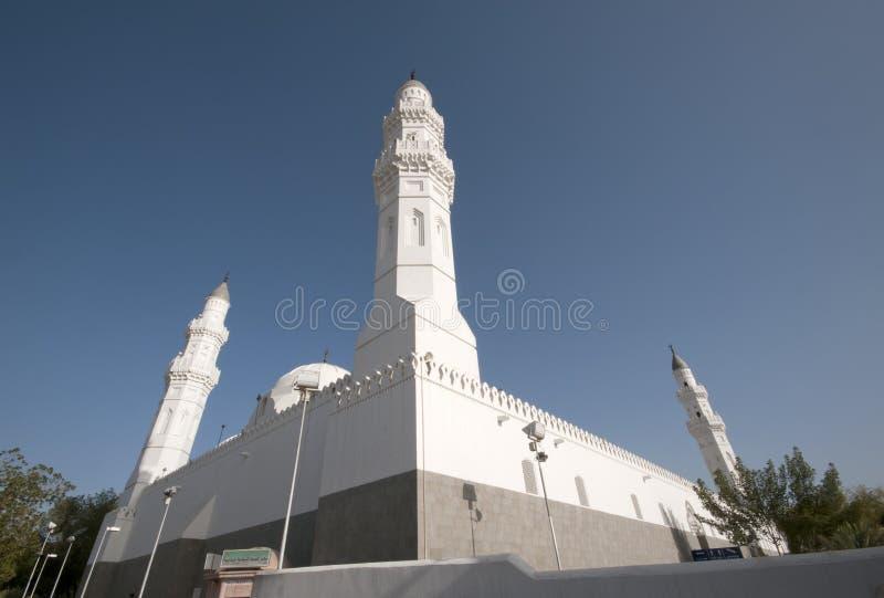 阿拉伯半岛masjid medina quba沙特 免版税图库摄影