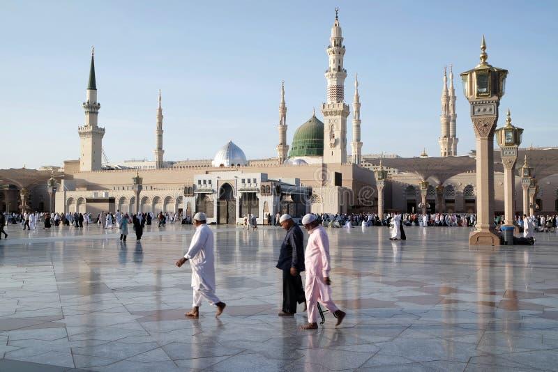 阿拉伯半岛medina清真寺nabawi沙特 库存照片