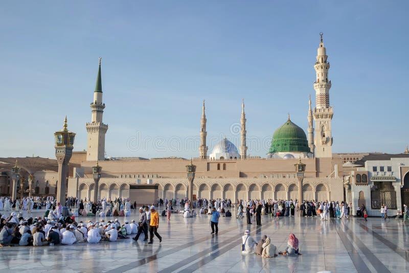阿拉伯半岛medina清真寺nabawi沙特 库存图片