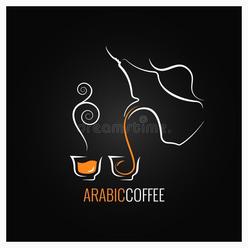 阿拉伯咖啡商标设计背景 库存例证