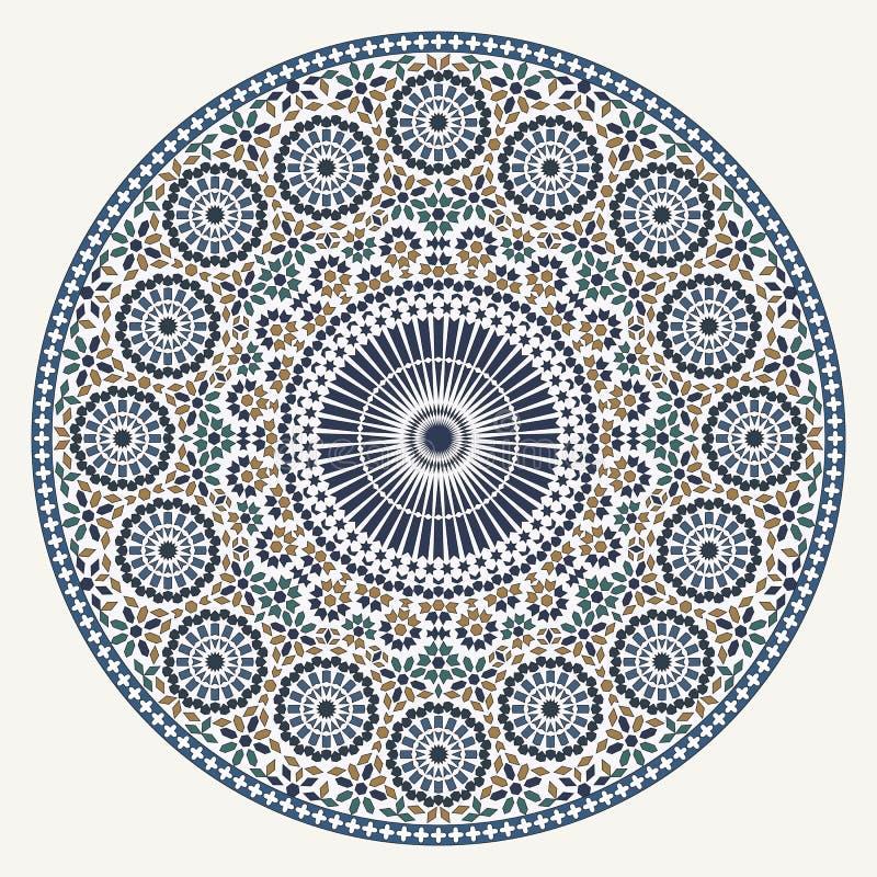阿拉伯圆样式 皇族释放例证