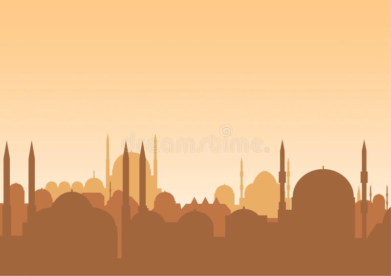 阿拉伯地平线 向量例证
