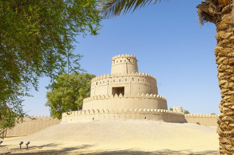 阿拉伯堡垒在艾因,阿联酋 图库摄影