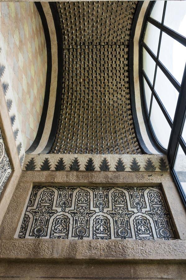 阿拉伯天花板装饰 免版税库存图片