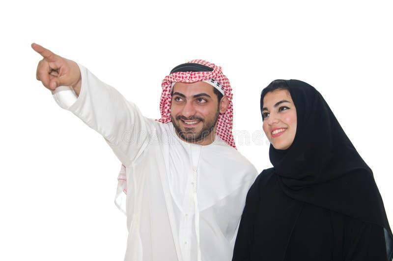 阿拉伯夫妇 免版税库存照片