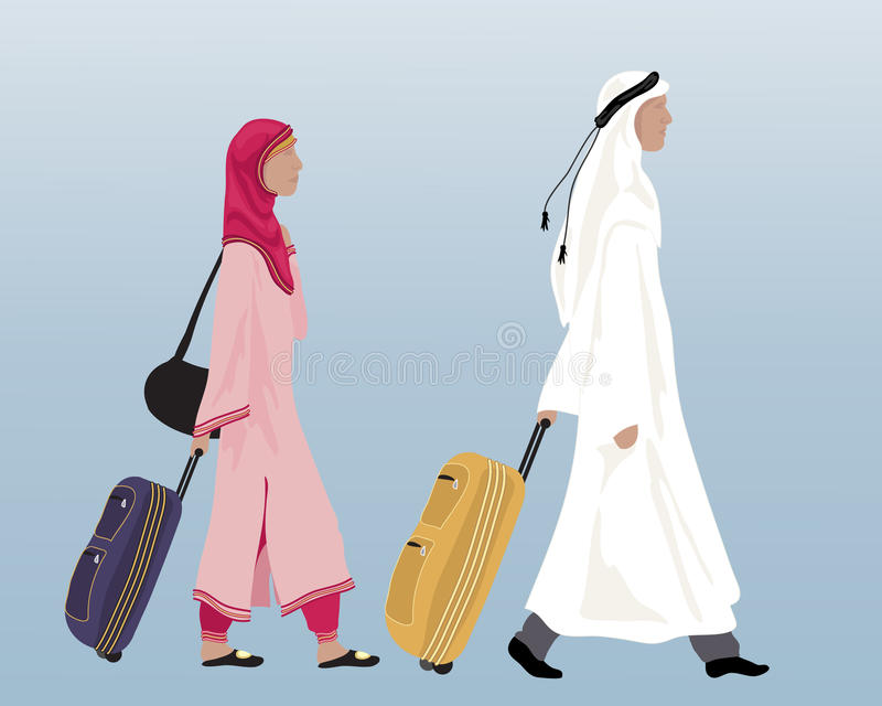 阿拉伯夫妇 库存例证