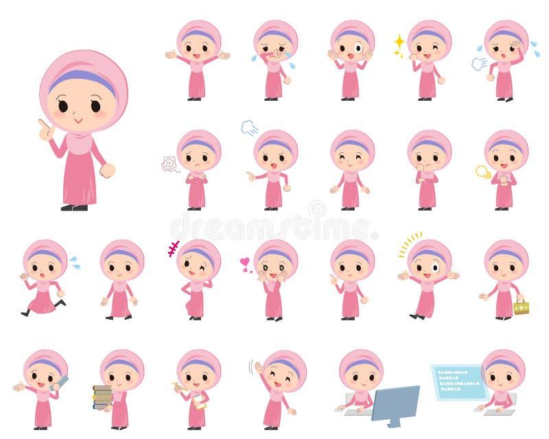 阿拉伯女孩 皇族释放例证