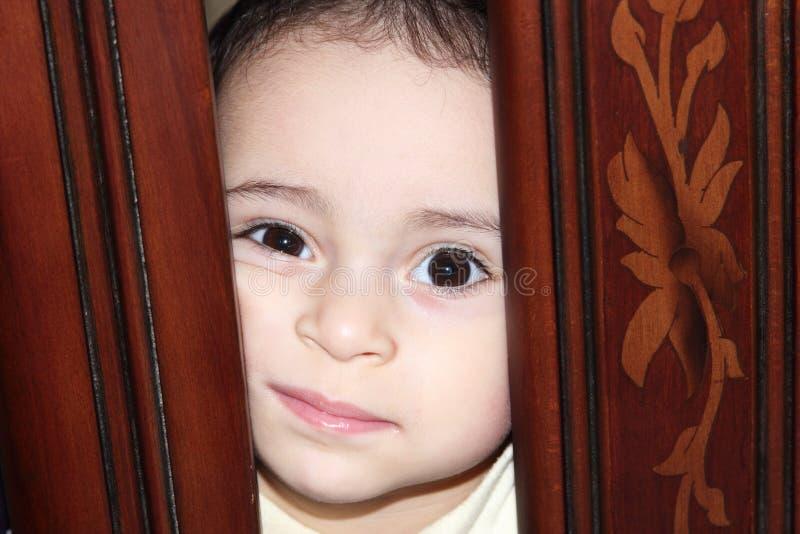 阿拉伯女婴 免版税库存照片