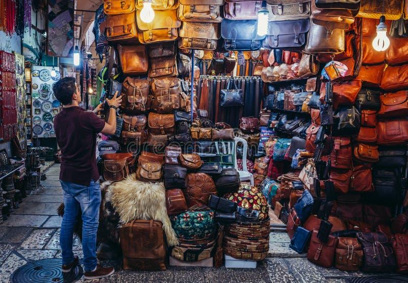 阿拉伯市场在耶路撒冷 免版税图库摄影
