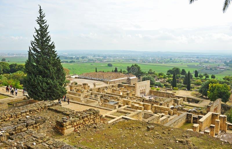 阿拉伯市的废墟麦地那Zahara,科多巴,安大路西亚,西班牙 库存照片