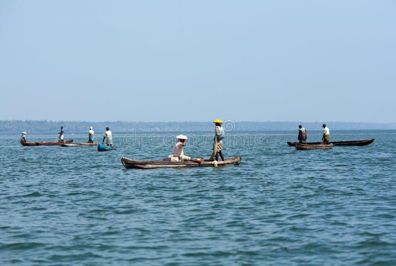 阿拉伯捕鱼海运 库存图片