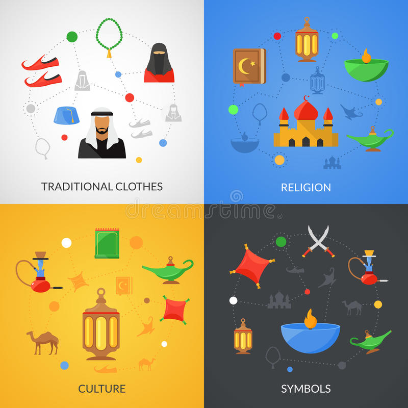 阿拉伯文化集合 库存例证