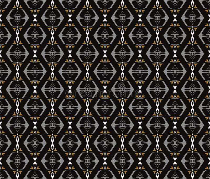 阿拉伯无缝的装饰品样式 装饰装饰样式背景 向量例证