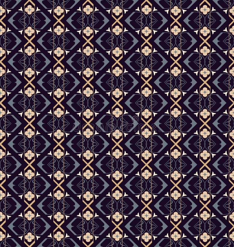 阿拉伯无缝的装饰品样式 装饰装饰样式背景 库存例证