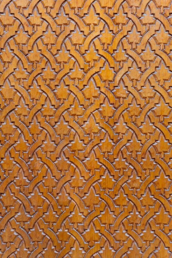 阿拉伯木样式,东方伊斯兰教的装饰品 摩洛哥瓦片或者摩洛哥zellij传统马赛克 免版税图库摄影