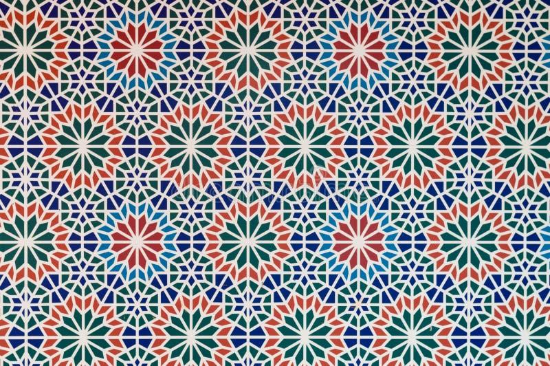 阿拉伯样式样式多颜色编结形式空白线路 库存例证